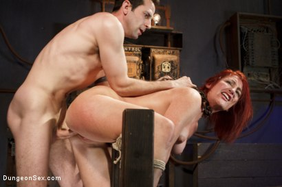 Photo number 7 from Fucking the Pain Slut shot for Dungeon Sex on Kink.com. Featuring Sophia Locke and Maestro in hardcore BDSM & Fetish porn.
