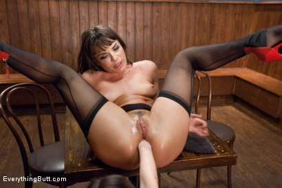 Photo number 9 from Extreme Anal Rough Rider Biker Babe Gets DPed in a Biker Bar shot for Everything Butt on Kink.com. Featuring Dana DeArmond and Juliette March in hardcore BDSM & Fetish porn.