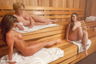 Photo number 6 from Sauna Perverts Tough fuck assholes in a sweaty ass sauna shot for Everything Butt on Kink.com. Featuring Ariel X, Dee Williams and Bella Rossi in hardcore BDSM & Fetish porn.