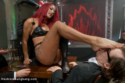 Photo number 9 from Is It Worth Your Soul?? Sexy Succubus hell bent on gang-bang to top them all!! shot for Hardcore Gangbang on Kink.com. Featuring Daisy Ducati, Owen Gray, Karlo Karrera, Tommy Pistol, Bill Bailey and Bradley Remington in hardcore BDSM & Fetish porn.