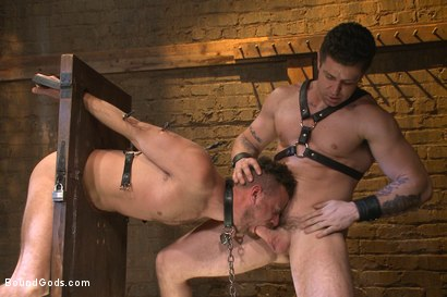 Photo number 9 from Leon Fox a new sub endures the brutal hands for Mr Ducati shot for Bound Gods on Kink.com. Featuring Trenton Ducati and Leon Fox in hardcore BDSM & Fetish porn.