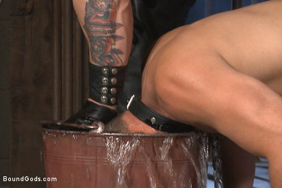 Photo number 5 from Leon Fox a new sub endures the brutal hands for Mr Ducati shot for Bound Gods on Kink.com. Featuring Trenton Ducati and Leon Fox in hardcore BDSM & Fetish porn.