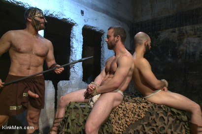 Photo number 5 from BATTLE OF SWORDS  shot for KinkMen.com Test Shoots on Kink.com. Featuring Christian Wilde, Eli Hunter, Dylan Strokes and Mike Gaite in hardcore BDSM & Fetish porn.