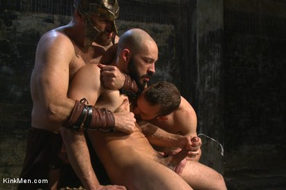 Photo number 9 from BATTLE OF SWORDS  shot for KinkMen.com Test Shoots on Kink.com. Featuring Christian Wilde, Eli Hunter, Dylan Strokes and Mike Gaite in hardcore BDSM & Fetish porn.