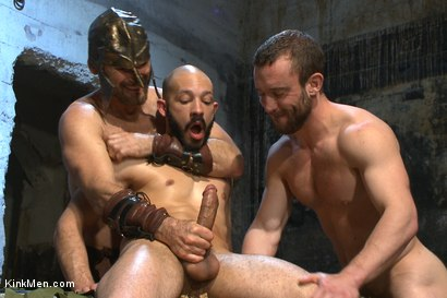 Photo number 11 from BATTLE OF SWORDS  shot for KinkMen.com Test Shoots on Kink.com. Featuring Christian Wilde, Eli Hunter, Dylan Strokes and Mike Gaite in hardcore BDSM & Fetish porn.