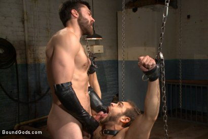 Photo number 14 from Latex - Electricity - Enema - Waders shot for Bound Gods on Kink.com. Featuring Abel Archer and Brock Avery in hardcore BDSM & Fetish porn.