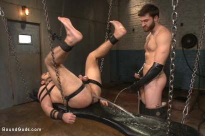 Photo number 9 from Latex - Electricity - Enema - Waders shot for Bound Gods on Kink.com. Featuring Abel Archer and Brock Avery in hardcore BDSM & Fetish porn.