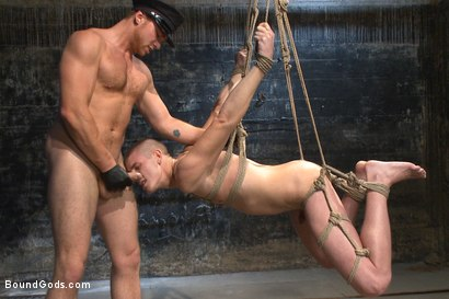 Photo number 14 from Officer Maguire uses and abuses a new punk shot for Bound Gods on Kink.com. Featuring Brendon Scott and Connor Maguire in hardcore BDSM & Fetish porn.