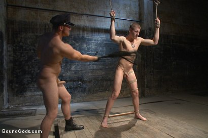 Photo number 7 from Officer Maguire uses and abuses a new punk shot for Bound Gods on Kink.com. Featuring Brendon Scott and Connor Maguire in hardcore BDSM & Fetish porn.