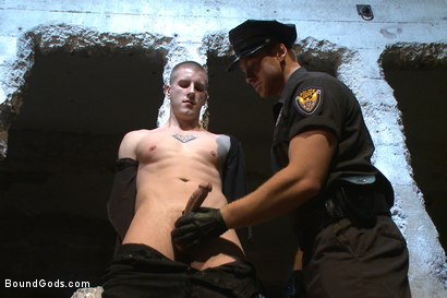 Photo number 4 from Officer Maguire uses and abuses a new punk shot for Bound Gods on Kink.com. Featuring Brendon Scott and Connor Maguire in hardcore BDSM & Fetish porn.