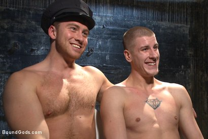 Photo number 15 from Officer Maguire uses and abuses a new punk shot for Bound Gods on Kink.com. Featuring Brendon Scott and Connor Maguire in hardcore BDSM & Fetish porn.