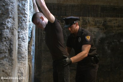 Photo number 1 from Officer Maguire uses and abuses a new punk shot for Bound Gods on Kink.com. Featuring Brendon Scott and Connor Maguire in hardcore BDSM & Fetish porn.