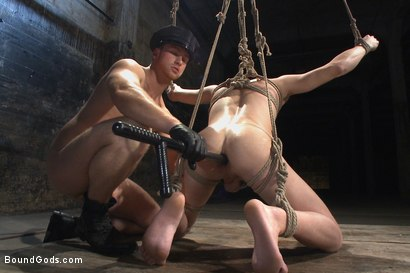 Photo number 12 from Officer Maguire uses and abuses a new punk shot for Bound Gods on Kink.com. Featuring Brendon Scott and Connor Maguire in hardcore BDSM & Fetish porn.