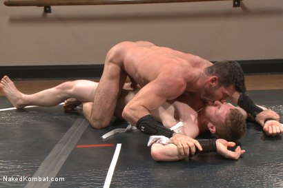 Photo number 3 from Top Cock - Sportsgear Smackdown Series: Two Rivals Fight and Fuck shot for Naked Kombat on Kink.com. Featuring Billy Santoro and Cass Bolton in hardcore BDSM & Fetish porn.