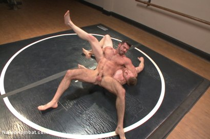 Photo number 8 from Top Cock - Sportsgear Smackdown Series: Two Rivals Fight and Fuck shot for Naked Kombat on Kink.com. Featuring Billy Santoro and Cass Bolton in hardcore BDSM & Fetish porn.