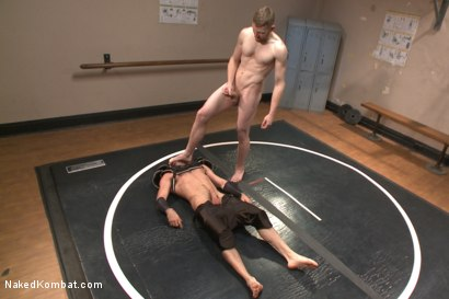 Photo number 9 from Top Cock - Sportsgear Smackdown Series: Two Rivals Fight and Fuck shot for Naked Kombat on Kink.com. Featuring Billy Santoro and Cass Bolton in hardcore BDSM & Fetish porn.