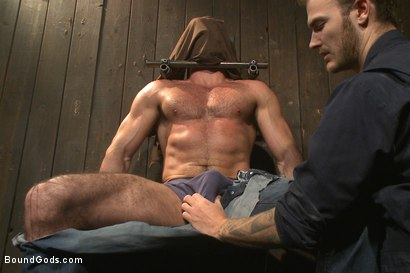 Photo number 1 from Muscle captive submits to the hands of Mr Wilde shot for Bound Gods on Kink.com. Featuring Billy Santoro and Christian Wilde in hardcore BDSM & Fetish porn.