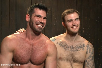 Photo number 11 from Muscle captive submits to the hands of Mr Wilde shot for Bound Gods on Kink.com. Featuring Billy Santoro and Christian Wilde in hardcore BDSM & Fetish porn.