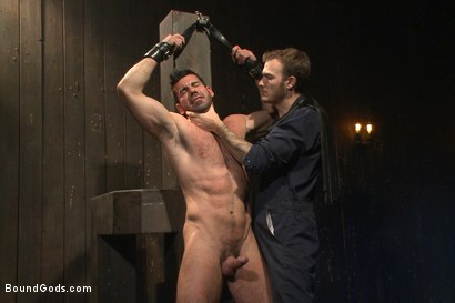 Photo number 14 from Muscle captive submits to the hands of Mr Wilde shot for Bound Gods on Kink.com. Featuring Billy Santoro and Christian Wilde in hardcore BDSM & Fetish porn.