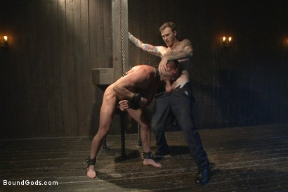 Photo number 7 from Muscle captive submits to the hands of Mr Wilde shot for Bound Gods on Kink.com. Featuring Billy Santoro and Christian Wilde in hardcore BDSM & Fetish porn.
