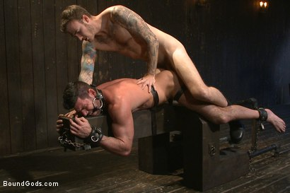 Photo number 8 from Muscle captive submits to the hands of Mr Wilde shot for Bound Gods on Kink.com. Featuring Billy Santoro and Christian Wilde in hardcore BDSM & Fetish porn.