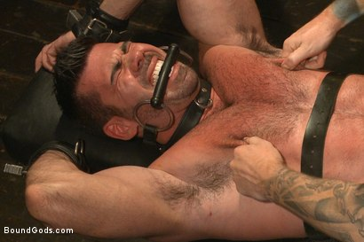 Photo number 10 from Muscle captive submits to the hands of Mr Wilde shot for Bound Gods on Kink.com. Featuring Billy Santoro and Christian Wilde in hardcore BDSM & Fetish porn.