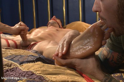 Photo number 11 from Hot bi personal trainer begs to cum shot for Men On Edge on Kink.com. Featuring Casey More in hardcore BDSM & Fetish porn.