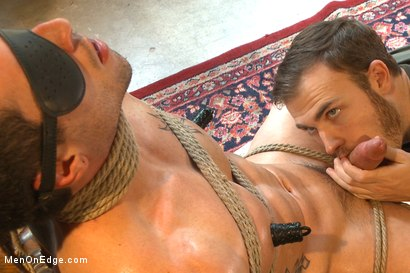 Photo number 6 from Hot bi personal trainer begs to cum shot for Men On Edge on Kink.com. Featuring Casey More in hardcore BDSM & Fetish porn.