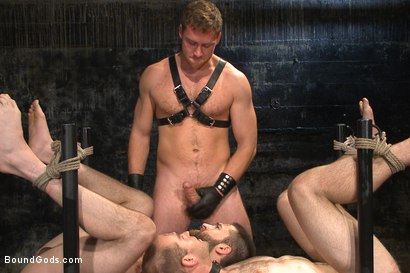 Photo number 9 from Ice Torment - Bound Gods Live Show shot for Bound Gods on Kink.com. Featuring Van Darkholme, Abel Archer, Jonah Marx and Connor Maguire in hardcore BDSM & Fetish porn.