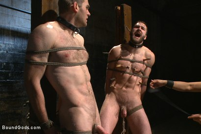 Photo number 13 from Ice Torment - Bound Gods Live Show shot for Bound Gods on Kink.com. Featuring Van Darkholme, Abel Archer, Jonah Marx and Connor Maguire in hardcore BDSM & Fetish porn.