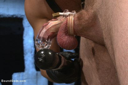 Photo number 3 from Ice Torment - Bound Gods Live Show shot for Bound Gods on Kink.com. Featuring Van Darkholme, Abel Archer, Jonah Marx and Connor Maguire in hardcore BDSM & Fetish porn.