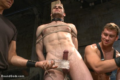 Photo number 4 from Ice Torment - Bound Gods Live Show shot for Bound Gods on Kink.com. Featuring Van Darkholme, Abel Archer, Jonah Marx and Connor Maguire in hardcore BDSM & Fetish porn.
