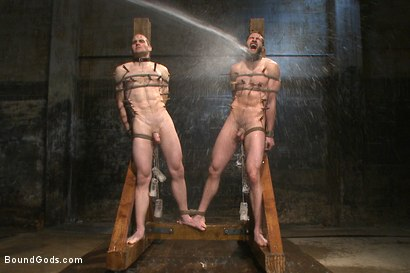 Photo number 12 from Ice Torment - Bound Gods Live Show shot for Bound Gods on Kink.com. Featuring Van Darkholme, Abel Archer, Jonah Marx and Connor Maguire in hardcore BDSM & Fetish porn.