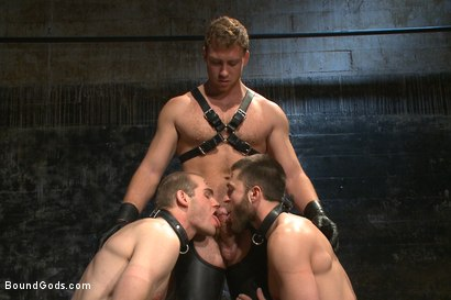 Photo number 6 from Ice Torment - Bound Gods Live Show shot for Bound Gods on Kink.com. Featuring Van Darkholme, Abel Archer, Jonah Marx and Connor Maguire in hardcore BDSM & Fetish porn.