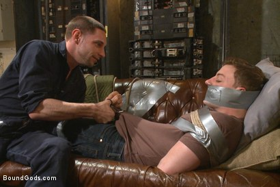 Photo number 1 from The Creepy Handyman Series - The battle of the giant cocks shot for Bound Gods on Kink.com. Featuring Jay Rising and Doug Acre in hardcore BDSM & Fetish porn.
