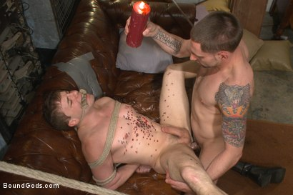 Photo number 12 from The Creepy Handyman Series - The battle of the giant cocks shot for Bound Gods on Kink.com. Featuring Jay Rising and Doug Acre in hardcore BDSM & Fetish porn.