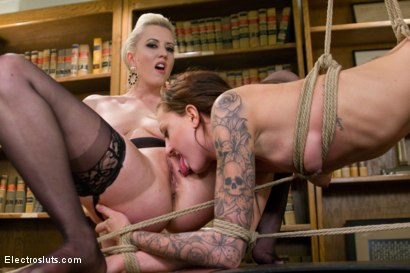 Photo number 21 from Teen Nurse Shocked Into Proper Office Behavior shot for Electro Sluts on Kink.com. Featuring Cherry Torn and Kendra Cole in hardcore BDSM & Fetish porn.