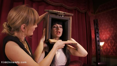 Photo number 5 from Sensual Sensory Deprivation shot for Kink University on Kink.com. Featuring Siouxsie Q and Mona Wales in hardcore BDSM & Fetish porn.