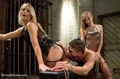 Photo number 12 from Stepmother And Daughter Dominating Duo shot for divinebitches on Kink.com. Featuring Mona Wales, Simone Sonay and Alexander Gustavo in hardcore BDSM & Fetish porn.