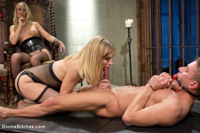 Photo number 6 from Stepmother And Daughter Dominating Duo shot for divinebitches on Kink.com. Featuring Mona Wales, Simone Sonay and Alexander Gustavo in hardcore BDSM & Fetish porn.
