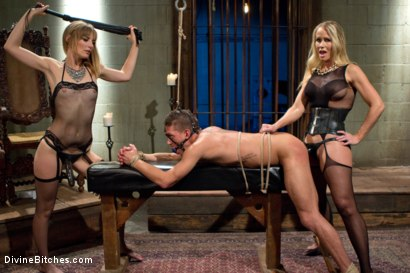 Photo number 4 from Stepmother And Daughter Dominating Duo shot for Divine Bitches on Kink.com. Featuring Mona Wales, Simone Sonay and Alexander Gustavo in hardcore BDSM & Fetish porn.