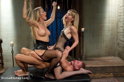 Photo number 14 from Stepmother And Daughter Dominating Duo shot for Divine Bitches on Kink.com. Featuring Mona Wales, Simone Sonay and Alexander Gustavo in hardcore BDSM & Fetish porn.