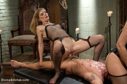 Photo number 7 from Stepmother And Daughter Dominating Duo shot for Divine Bitches on Kink.com. Featuring Mona Wales, Simone Sonay and Alexander Gustavo in hardcore BDSM & Fetish porn.