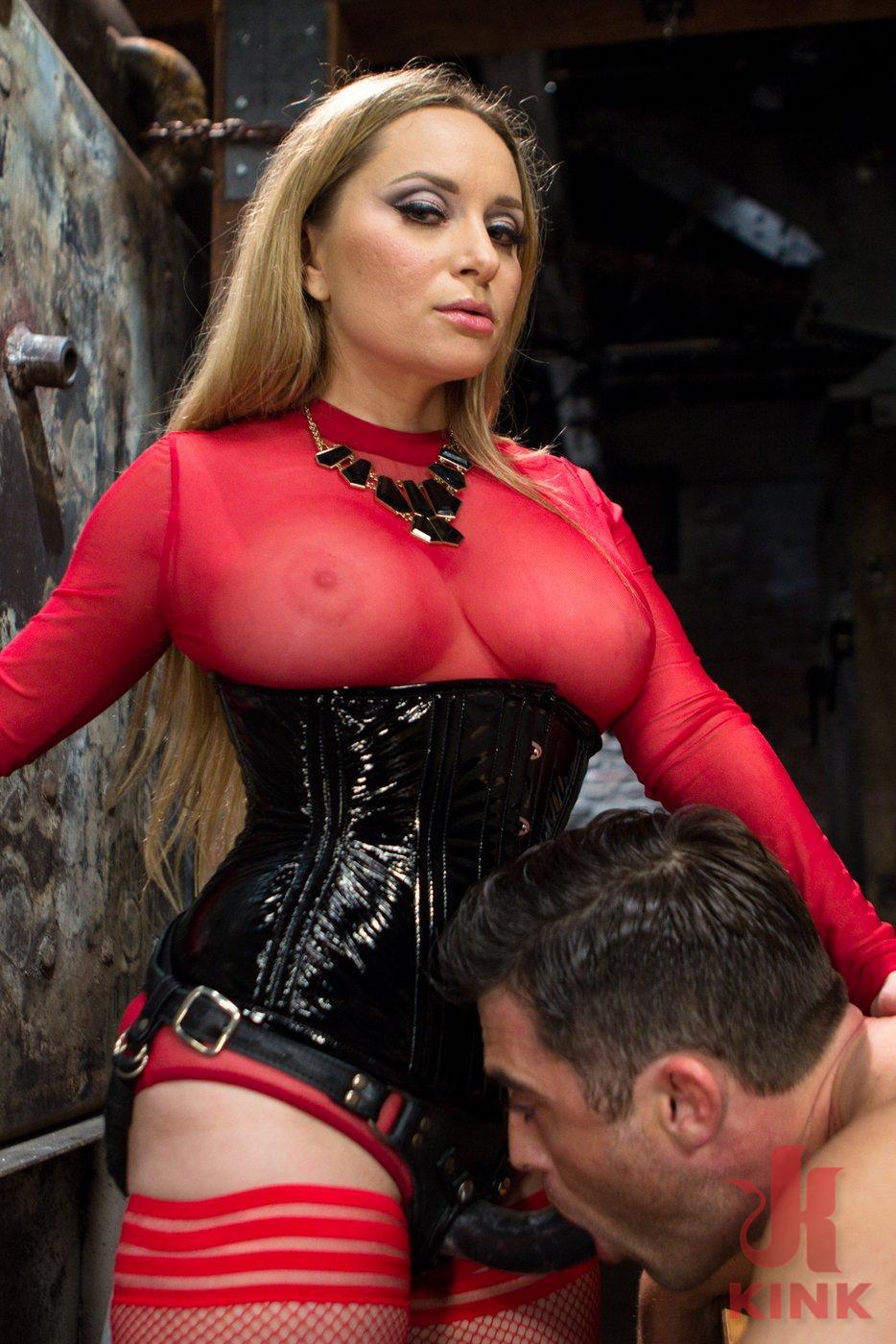 Mistress aiden starr strapon femdom 1