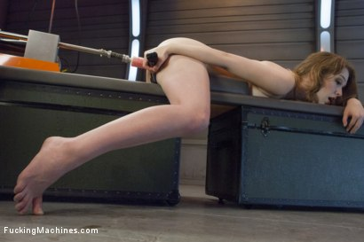 Photo number 9 from ATTENTION! Hottie on Deck! Our Strawberry Blond Soldier Fucks Machines shot for Fucking Machines on Kink.com. Featuring Alaina Fox in hardcore BDSM & Fetish porn.