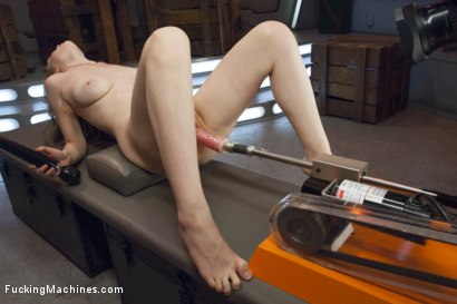 Photo number 6 from ATTENTION! Hottie on Deck! Our Strawberry Blond Soldier Fucks Machines shot for Fucking Machines on Kink.com. Featuring Alaina Fox in hardcore BDSM & Fetish porn.