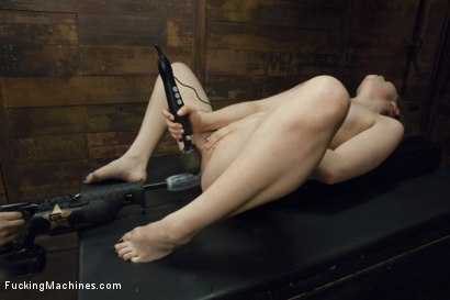 Photo number 8 from 19 Year Old Takes a Hard Fucking shot for Fucking Machines on Kink.com. Featuring Kasey Warner in hardcore BDSM & Fetish porn.
