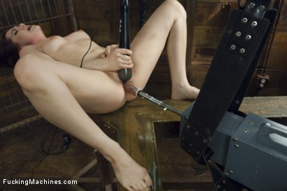 Photo number 3 from 19 Year Old Takes a Hard Fucking shot for Fucking Machines on Kink.com. Featuring Kasey Warner in hardcore BDSM & Fetish porn.