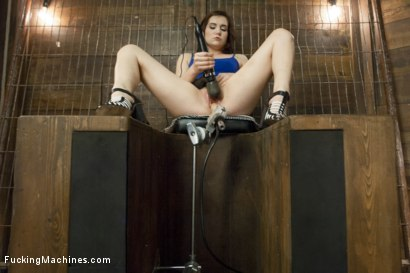 Photo number 10 from 19 Year Old Takes a Hard Fucking shot for Fucking Machines on Kink.com. Featuring Kasey Warner in hardcore BDSM & Fetish porn.