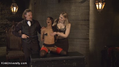 Photo number 5 from Protocol and Position Training  shot for Kink University on Kink.com. Featuring Maestro Stefanos, Shay Tiziano and Nikki Darling in hardcore BDSM & Fetish porn.